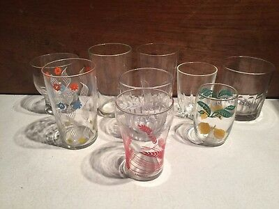 Selection Assorted Vintage / Retro Glass Tumblers