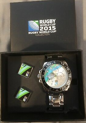 Rugby World Cup 2015 Watch And Cuff Link Set