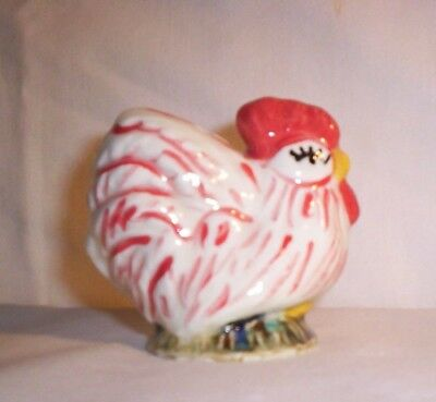 Chicken H213 T230 Ceramic Red / White Rooster Pie Bird