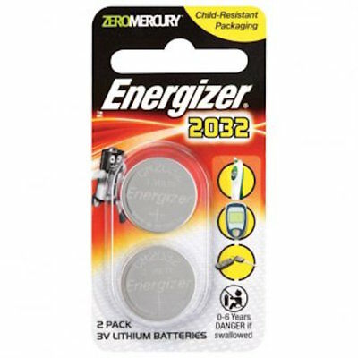 Energizer Coin Cell Battery For Scales & Calculators -Twin Pack CR2032-FREE POST