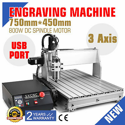 Usb Cnc Router Engraver Engraving Cutter 3 Axis 6040T Crafts Milling Artwork