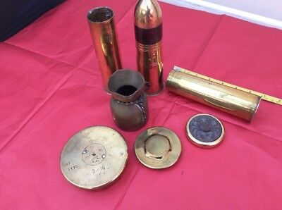 Job lot Vintage nautical  Boat Brass Trench Art Lighter shell cases