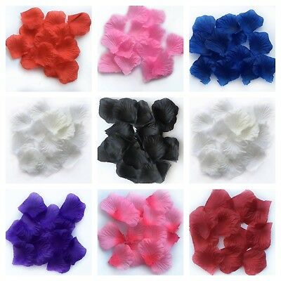 100 - 1000 Rose Petals Artificial Silk Wedding Flower Favor Decor Table Confetti