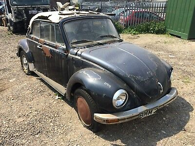 1978 Volkswagen Beetle Karmann Convertible LHD Barn Find Classic Car Restoration