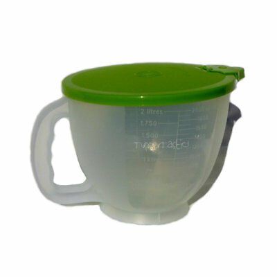 Tupperware NEW Classic Style Mix n Pour Stor Measuring Jug 2 litre Sheer Lime