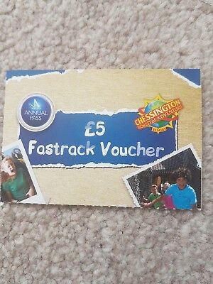 Merlin Annual Pass CHESSINGTON WORLD £5 Fastrack Vouchers Fast Track Tickets