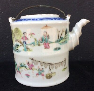 Antique Chinese Porcelain Painted Teapot