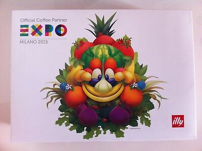 ILLY EXPO 2015 art collection Cappuccino set of TWO cups + 2 saucers box