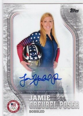 Jamie Greubel Poser 2018 Topps Winter Olympic USA Auto Autograph Silver 13/50