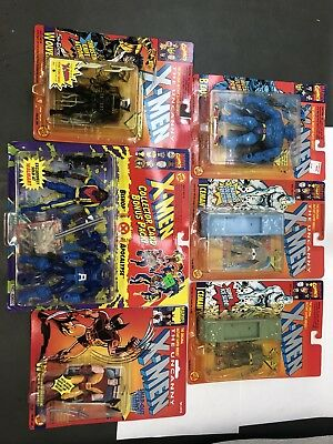 Lot Of 6 1990's Toybiz Uncanny X-Men Action Figures MOC mint