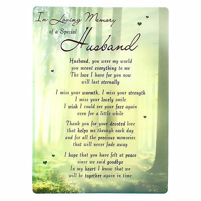 In Loving Memory Open Graveside Memorial Card - Special Husband