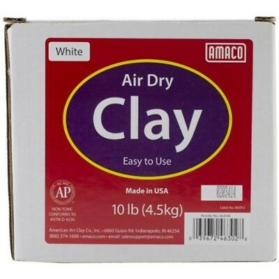 Amaco Air Dry Modeling Clay, 10-pound, White - Air Clay 10lb