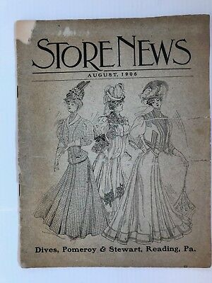 Vintage August 1906 Store News for Dives, Pomeroy & Stewart of Reading, PA