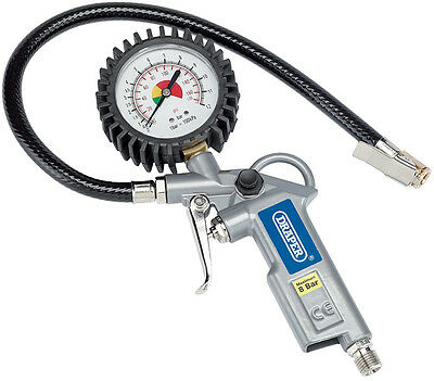 Draper Air Airline Car Tyre Inflator & Pressure Gauge use with compressor 10604