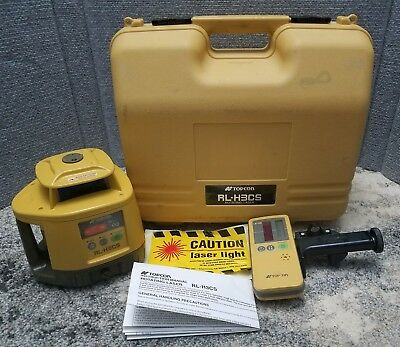 Topcon RL-H3CS Rotating Laser Level System with LS-70B and Hard Carrying Case