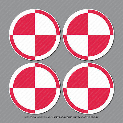 5719 4 x POLAND Polish Air Force Aircraft Insignia Vinyl Stickers Decals 50mm