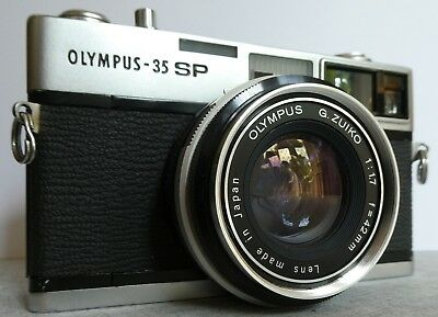 Vintage Olympus 35SP Rangefinder Film Camera, f1.7, 42mm Lens