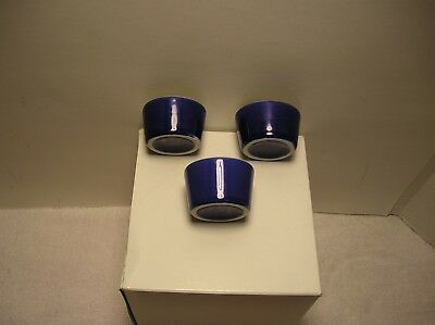 (3)Hall China #1787  Condiment Cups   Cobalt Blue