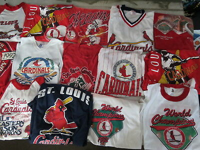 LOT OF 31 VINTAGE ST LOUIS CARDINALS T SHIRTS VINTAGE 80s TEES MLB 90s CHAMPS