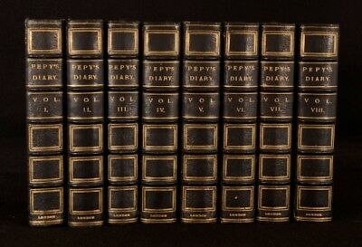 1904-1905 8Vol The Diary of Samuel Pepys Henry B Wheatley Morocco Frontispiece