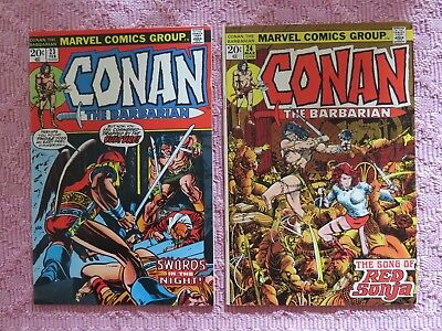Conan The Barbarian #23 and # 24