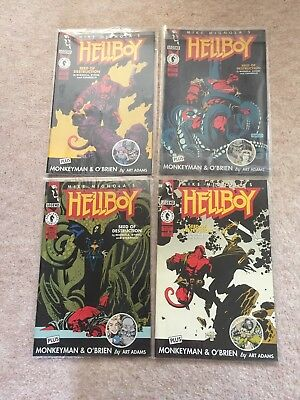 Dark Horse Comics Hellboy Seed Of Destruction 1-4 Full Set Mignola 1994