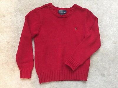 Polo by Ralph Lauren Boys Red Sweater Size 5 6