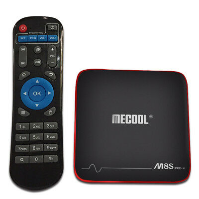 M8S PRO W Android 7.1 MECOOL TV Box 4K H.265 WiFi Quad Core 2G+16G