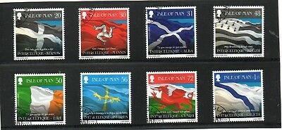 Sg 1426-33 Isle Of Man Flags Of Celtic Countries Very Fine Used Set