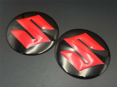 Black Red Tank Fairing S Logo Emblem Decal For SUZUKI Badge Motorcycle Stickers