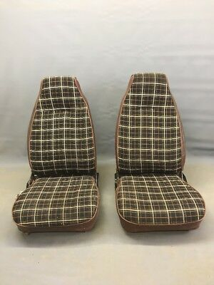 Ih International Scout Ii Russet Plaid Bucket Seats 72-80