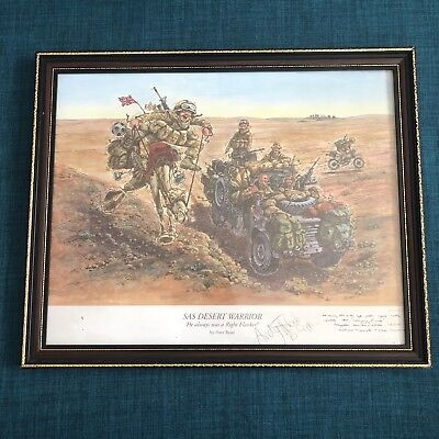 SAS Desert Warrior Framed Print By Peter Read Signed By Andy McNab Bravo 20 #F