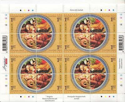 Singapore - 2008 - Local delights - 2 different sheetlets of 16 stamps - MNH