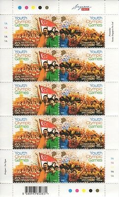 Singapore - 2008 - Youth Olympic Games - Shetlet of 10 stamps - MNH