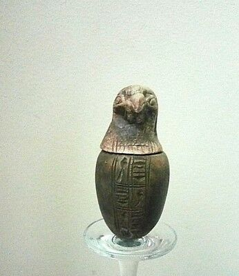 Rare Antique Ancient Egyptian Son of Horus Canopic Jar Egyptian 1900 - 1100 BC