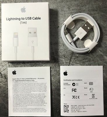 Apple iPhone 6 6s 7 7s 8 8s Plus Lightning to USB Charger Cable 1m 3ft MD818ZM/A