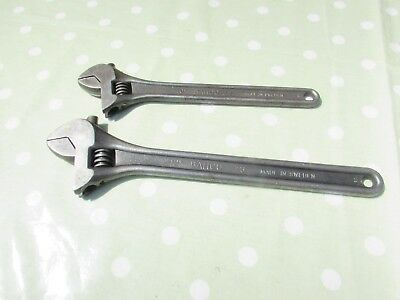 """Bahco Adjustable Spanner x 2, 12"""" (300mm) 73 & 10"""" (250mm) 72"""