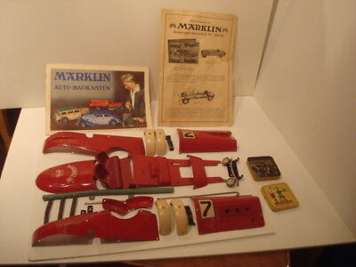 marklin baukasten 1107 R with booklets and tin in original condition
