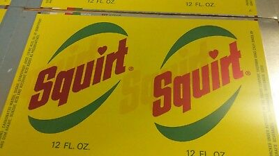 Vintage Squirt Advertising Error Rare Unprocessed Tin Cans Great Signs Unique