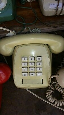 OLD cream AWA TELEPHONE  push button  RETRO / VINTAGE