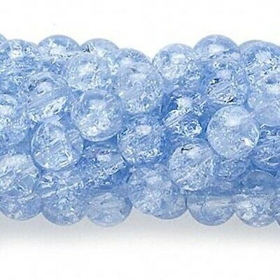 30 Pcs /& by Strand 8x11mm  Oval Crackle Glass Beads Various Colour