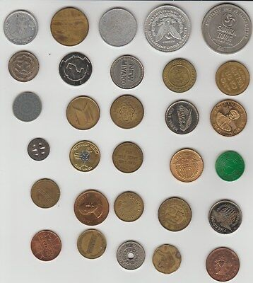 Lot of 30 Miscellaneous Tokens and Medals