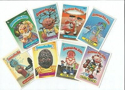 Vintage Topps Assorted Garbage Pail Kids 8 Card Lot A&b