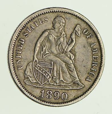 1890-S Seated Liberty Dime *9753