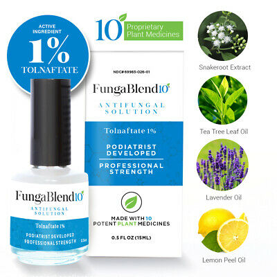 FungaBlend 10®  Antifungal Solution with 1% Tolnaftate Plus 10 Plant Medicines