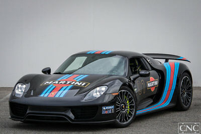 Porsche 918 Spyder 2dr Roadster 2015 Porsche 918 Spyder Under 1,000 Miles / Full Xpel Clear with Martini Livery