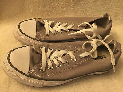 Used/Worn Converse All Star Womens size 7 Gray Canvas Low Basketball