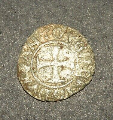 Crusader Cross Antique Coin 1100-1300 Europe Medieval Ancient Templar Silver #2