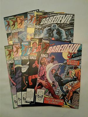Daredevil #201-206 and 209-212 VF+ to NM 10 BOOK LOT