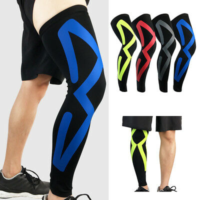 New Compression Knee Leg Calf Support Sports Injury Guard Brace Long Sleeve Wrap